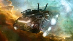 The Freighter in a Nubula spaceship sci-fi planet 15