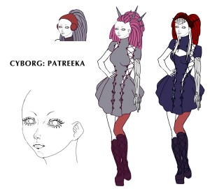 robot girl planet 15 comic book drawing of Patreeka™