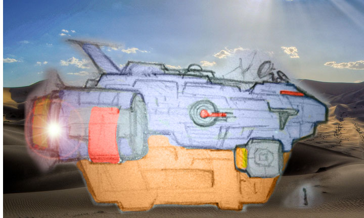 Space Freighter sci-fi tv web series