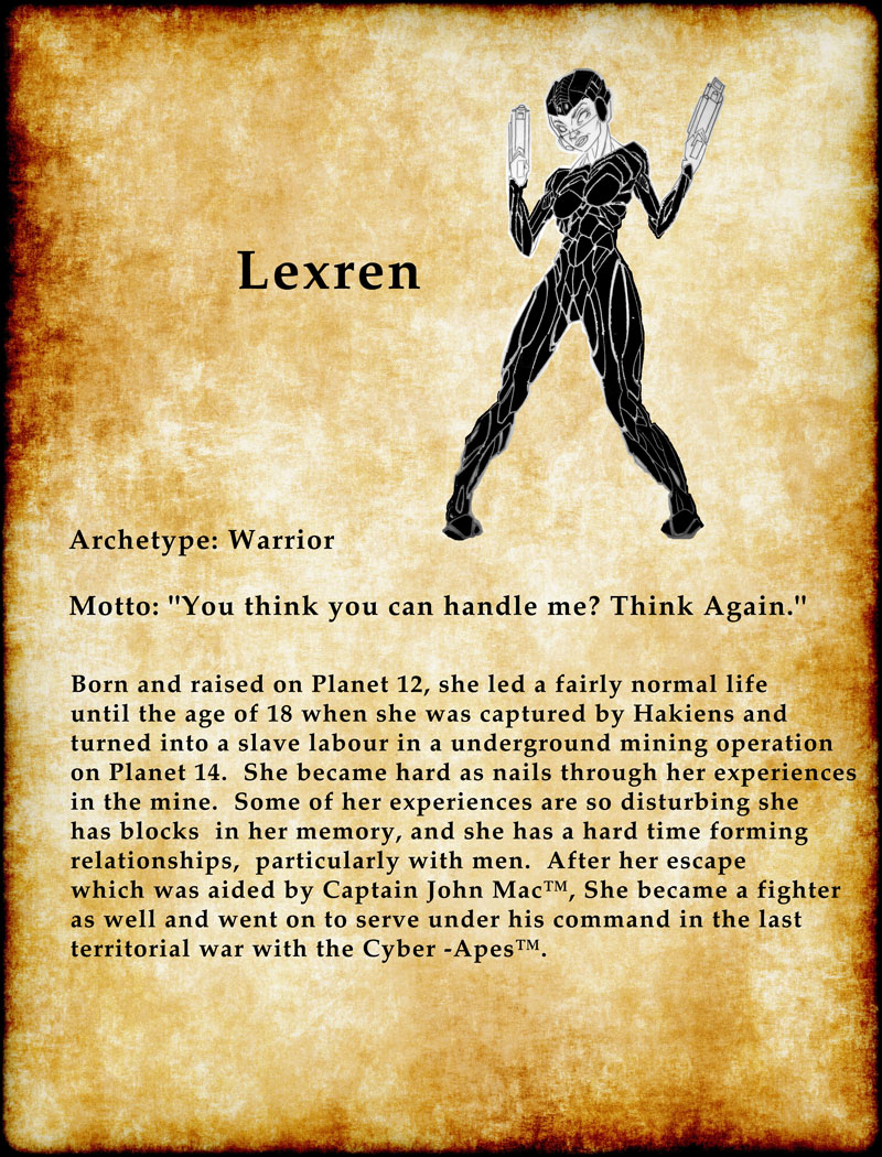 Lexren fighter chick hot space girl