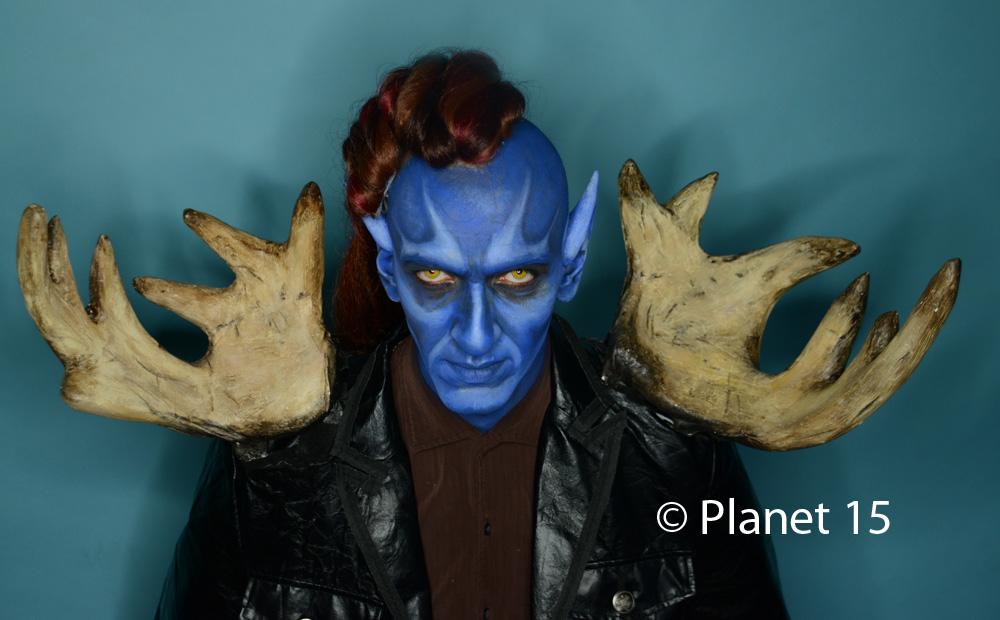 science fiction blue man sci-fi cool horns