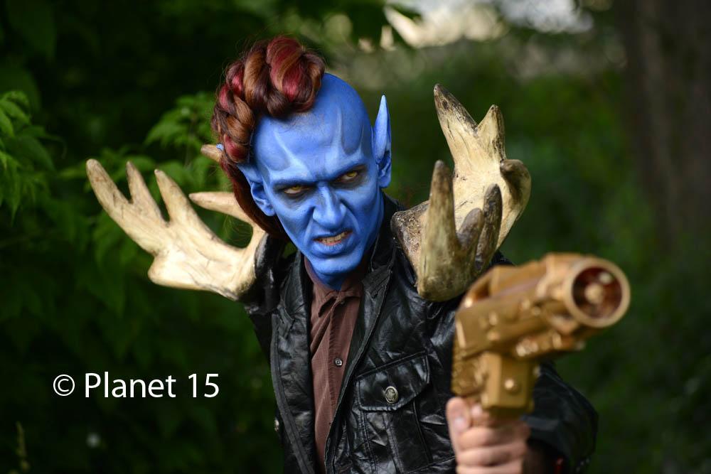 science fiction alien blue man sci-fi cool horns